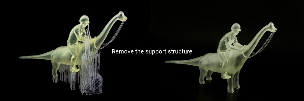 Remove the support structure or excess material - What is 3d printing and how does it work?
